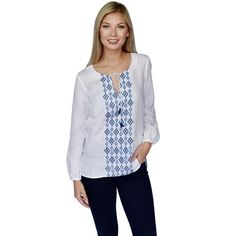 Jewel Embroidered Tunic (Sapphire)
