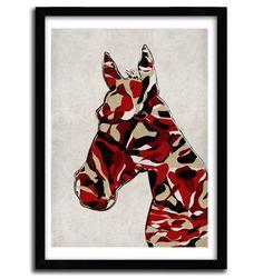 CAMOUFLAGE HORSE by ANGELO CERANTOLA - artandtoys.com