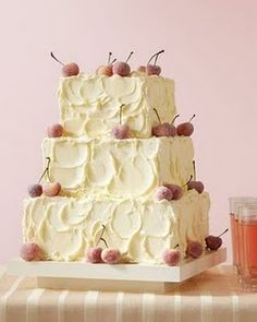 cherry wedding cake! what a great idea..