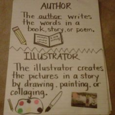 Author/Illustrator Anchor Chart