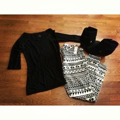 Goodwill thrifted black shirt // tribal skinny jeans // Blowfish black booties // Instagram @ keepinitthrifty