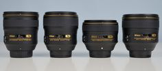 Nikon 24, 35, 58, 85 mm f/1.4G N lenses