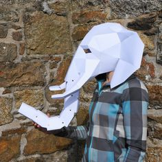NEED A FANCY DRESS COSTUME? Make your own ELEPHANT MASK from recycled card with these easy to follow instructions. The Elephant is the first of our