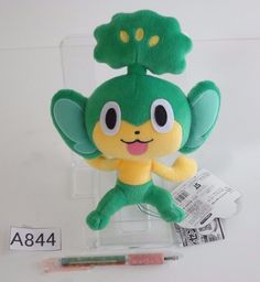Takara Tomy Pokemon Pansage Vegimak Feuillajou Plush Doll.with the bonus item #TakaraTomy
