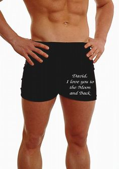 84bd83064b9a Personalised Mens Boxer Shorts. Any Message Embroidered. Message Man,  Hipster Man, Boxer