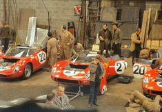 Ferrari 250P, #20 Bandini-Scarfiotti (1st), #22 Parkes-Maglioli (3rd), #21 Surtees-Mairesse (ret.) (Le Mans, 1963)
