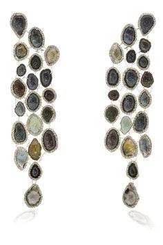 April birthstone Diamond // Kimberly McDonald brown diamond drop #earrings