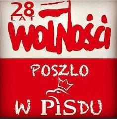 25 lat wolności poszło w PiSdu Everything And Nothing, Cool Things To Make, Poland, Graffiti, Funny Memes, Geek Stuff, Entertaining, Quotes, Sash