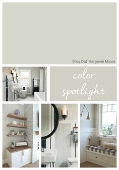 Benjamin Moore Gray Owl is a stunning light warm gray that is one of the most versatile paint colors out there. However, Gray Owl is a finicky color so it's important to sample the color first in… Benjamin Moore Grey Owl, Benjamin Moore Bedroom, Benjamin Moore Colors, Benjamin Moore Cashmere Gray, Dining Room Paint Colors Benjamin Moore, Benjamin Moore Intense White, Benjamin Moore Kitchen, Living Room Color Schemes, Paint Colors For Living Room