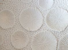 unglazed porcelain, hand made 'coral' textures (white bowl collection 009) by c-urchin (Lisa Stevens), via Flickr