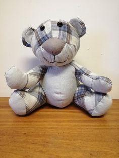 Memory Bear - Nosey Bear by Fat Panda Toys Fat Panda, Dealing With Grief, Cute Stuffed Animals, Pet Memorials, Sew, Teddy Bear, Memories, Toys, Memoirs
