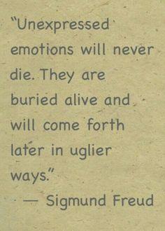 This is sòooooooooooo very true. #Suppressing #Emotions