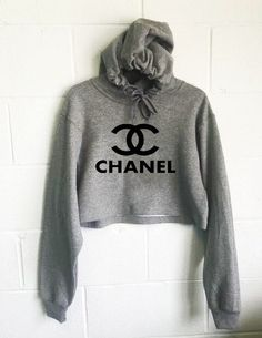 Chanel Top Cropped Hoodie If you're looking for a top-quality, instant-favorite hooded sweatshirt, you've come to the right place! This cropped hoodie with the Chanel Logo printed in non-peeling, non-