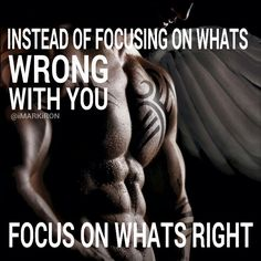 Focus on what is right