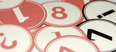 Number labels - free printouts