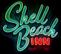 Shell Beach Inn by Thomas Hawk. GRaphic design and COOL typography Design Logo, Graphic Design Typography, Sign Design, Cool Neon Signs, Vintage Neon Signs, Vintage Ads, Typography Letters, Hand Lettering, Neon Nights