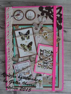 Yoltzin handmade cards: Altered notebook