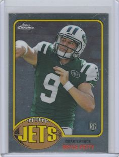 "2015 Topps Chrome 60th Anniversary ""ROOKIE"" Throwback Football Card Bryce Petty"