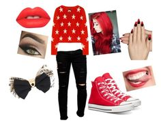 """""""Angel's outift"""" by swaglicious-815 ❤ liked on Polyvore featuring Cheap Monday, Banjo & Matilda, Lime Crime, Converse, Static Nails, Rebel Yell, women's clothing, women, female and woman"""