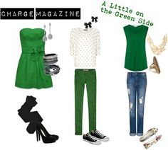 """A Little on the Green Side"" by chargemagazine on Polyvore"