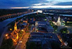 Upių Nemuno ir Neries santakoje įsikūręs Kauno senamiestis #Kaunas We love Lithuania - Photo by : Kestutis Fedirka #Lithuania - #Lietuva