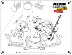Free Alvin and The Chipmunks Coloring Page
