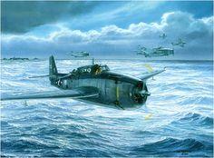 Final Approach to Home, by Tom Freeman (Grumman TBF Avenger George H.W. Bush, USS San Jacinto, Marianas Islands, June 19 1944)