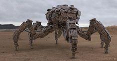 Desert War Rig Mech Design by sancient.deviantart.com on @DeviantArt