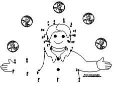 ABC Benny's Pennies dot to dot  activity available at www.makinglearningfun.com.