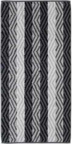 Gemustertes Badetuch »Reflection Grafik« von Cawö. Das Zickzack-Muster wird durch breite farbige Streifen unterbrochen - hier fügen sich also 2 Muster harmonisch ineinander. Die kräftigen Farben macht das Tuch zu einem schicken Hingucker. Der Stoff des Badetuchs ist aus 100% Baumwolle gefertigt, wodurch die Walkfrottee Qualität herrlich kuschelig, hautfreundlich und pflegeleicht wird. Mit Hilfe...