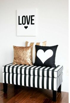 Hearts sparkles & stripes