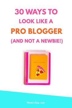 30 Ways to Look Like a Pro Blogger (And Not A Newbie) | Learn how to start and grow a profitable blog | Wonderlass