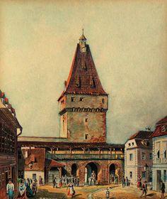 Johann Bobel - Turnul Portii Cisnadiei Barcelona Cathedral, Medieval, Tower, Building, Painting, Travel, Art, Google, Art Background