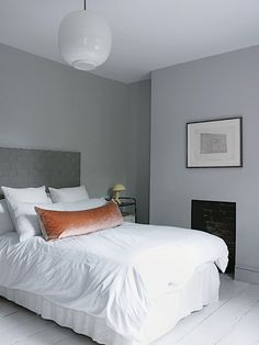 Grey - bedroom / chambre - gris - blanc