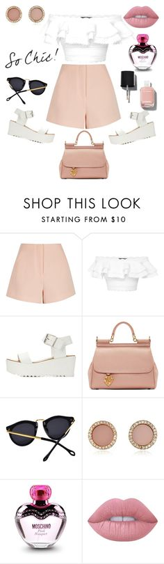 """Sweet summer inspirations "" by anyaaa04 on Polyvore featuring Finders Keepers, Alexander McQueen, Charlotte Russe, Dolce&Gabbana, Michael Kors, Moschino, Lime Crime and Chanel"