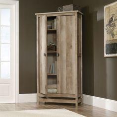 Cottage Style Wardrobe Armoire Storage Cabinet in Light Oak Wood Finish