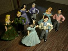 vintage Jamar square dance figures - various years (1957-87), souvenirs and/or paint-it-yourself. great set!