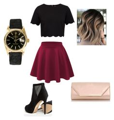 """A Night Out"" by melvinadavis80 ❤ liked on Polyvore featuring Ted Baker, ALDO, Dorothy Perkins and Rolex"