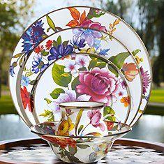 ~ Living a Beautiful Life ~ MacKenzie-Childs Flower Market Enamelware. Dinner Sets, Dinner Ware, Dinner Plates, Dinnerware Sets, China Dinnerware, Flower Market, China Patterns, Tea Party, Decoration