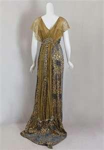 Evening dress, ca 1911, Vintage Textile