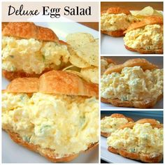 Deluxe Egg Salad - Looking for an upgrade on the traditional egg salad? Try this Deluxe Egg Salad! It includes cream cheese, grated onions and is by far my favorite version of egg salad