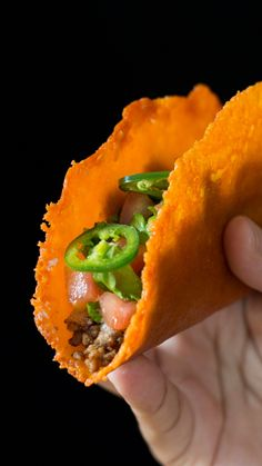 Your taco shell preference just grew by one. Cheese lovers, skip the tortillas and swoon over this cheese taco shell instead.