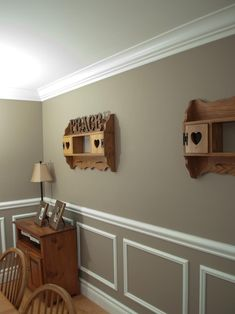 Chair Rail Moulding. Thinking of adding this in the dining room this fall.