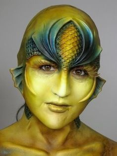 SFX makeup. Fantasy. Mermaid