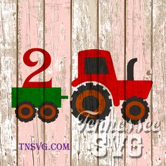 Instant Download Tractor with Trailer numbers 1 2 3 4 john deere Birthday SVG, PNG, FCM, by TennesseeSVG on Etsy