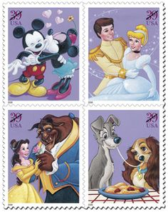 I loved the Disney Postage Stamps! Wish they were available all of the time! SO CUTE!!
