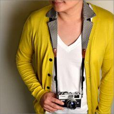Collar Camera Strap チドリ - 首掛けで襟元ができるユニークなデザインのカメラ用ロングストラップ - fu-bi(フウビ)