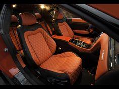2011 Mansory Maserati GranTurismo - Interior - red and black custom interior double diamond stitch
