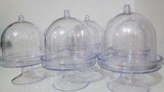 mini cupula em acrilico para docinhos,valor somente da cupula,sem os docinhos,que são mera sugestão de uso