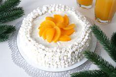 Торт «Сугроб» с персиками - пошаговый рецепт с фото: Классический бисквит со сливочно-сырным кремом. - Леди Mail.Ru
